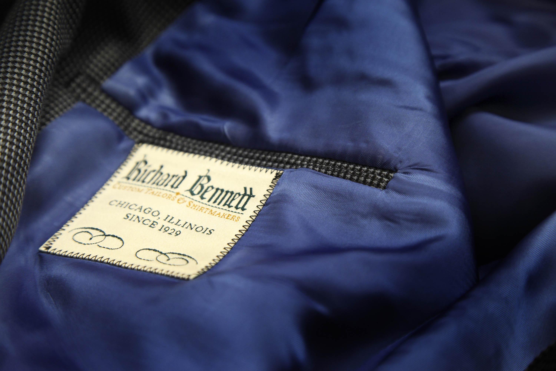 Zynk 30 Richard Bennett Custom Tailors suit tag